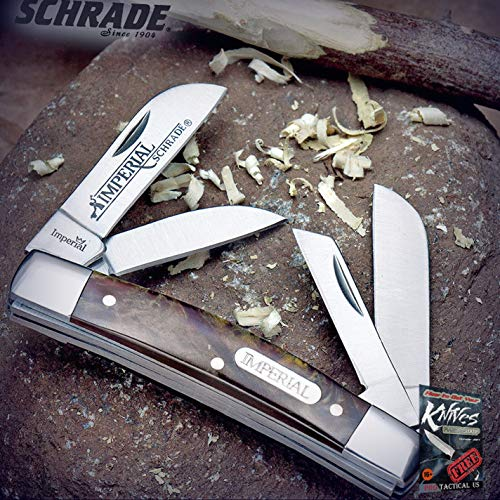 """New Cool Schrade Imperial Amber Swirl Congress Folding Edc Pocket Pro Tactical Elite Knife Multi Blade for Home Camping Hunting Rescue + free Ebook by ProTactical""""US"""