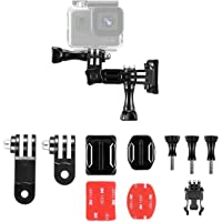 Taisioner Se Adapta a cámaras Deportivas como GoPro Hero 4 5 6 7 Black Casco multifunción con Base Plegable Soporte de fijación de Ajuste de 90 ° Accesorios de la cámara Deportiva