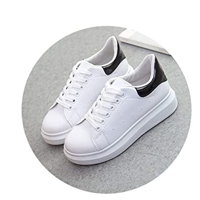 Amazon.com | W6LDiJLddl PU Leather Women Shoes Fashion Sneakers Increase Shoes Zapatillas Deportivas Mujer | Shoes
