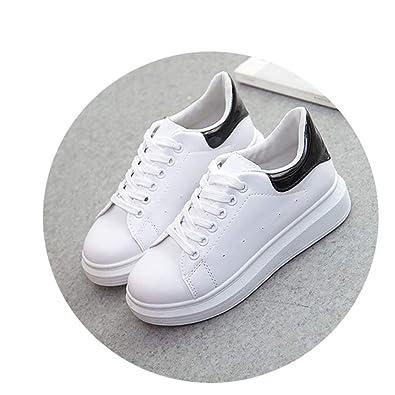 Amazon.com | W6LDiJLddl PU Leather Women Shoes Fashion Sneakers Increase Shoes Zapatillas Deportivas Mujer | Shoes