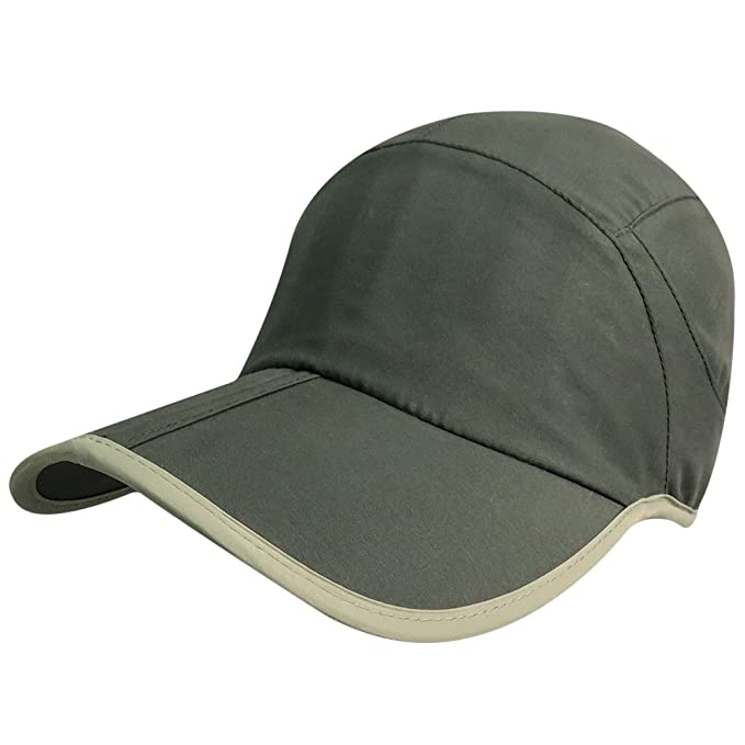 e413f296fe8 Image Unavailable. Image not available for. Color  Phaiy Baseball Cap  Unisex Foldable UPF 50 Quick Dry Outdoor Sports Adjustable Hats