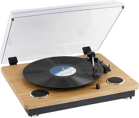 Clip Sonic Technology tes191 Tocadiscos Bluetooth Madera: Amazon ...