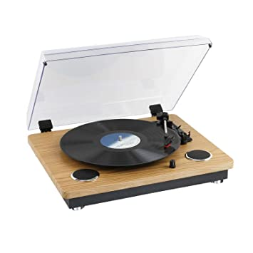 Clip Sonic Technology tes191 Tocadiscos Bluetooth Madera ...