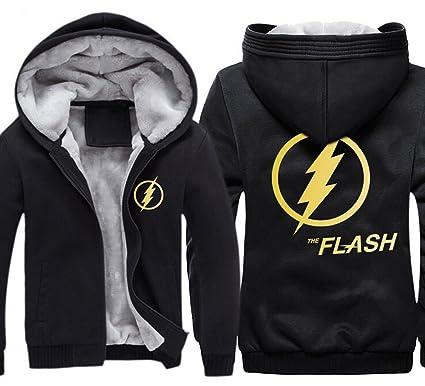 c17114203 Amazon.com: KINOMOTO Cool Anime Flash Logo Unisex Hoodie Winter zipper Coat  Thicken Fleece: Clothing