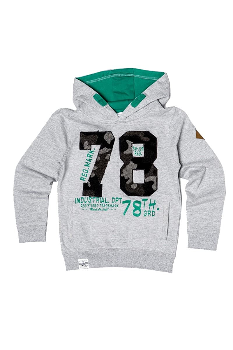 Minoti Boys Camo Applique 78 Hooded Sweatshirt
