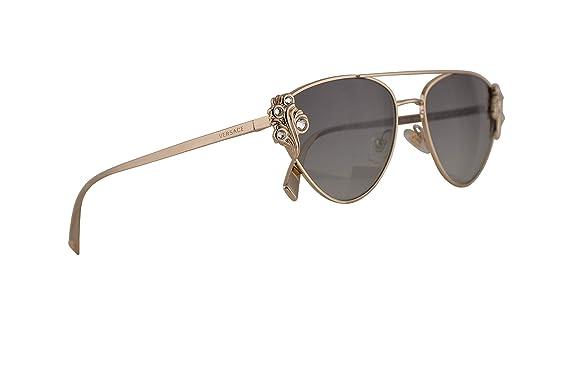 Amazon.com: Versace VE2195B - Gafas de sol, color dorado ...