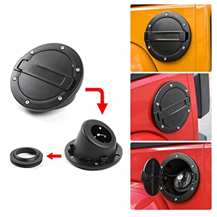 Amazon Com Jecar Aluminum Gas Cap Fuel Filler Door Cover For 2007