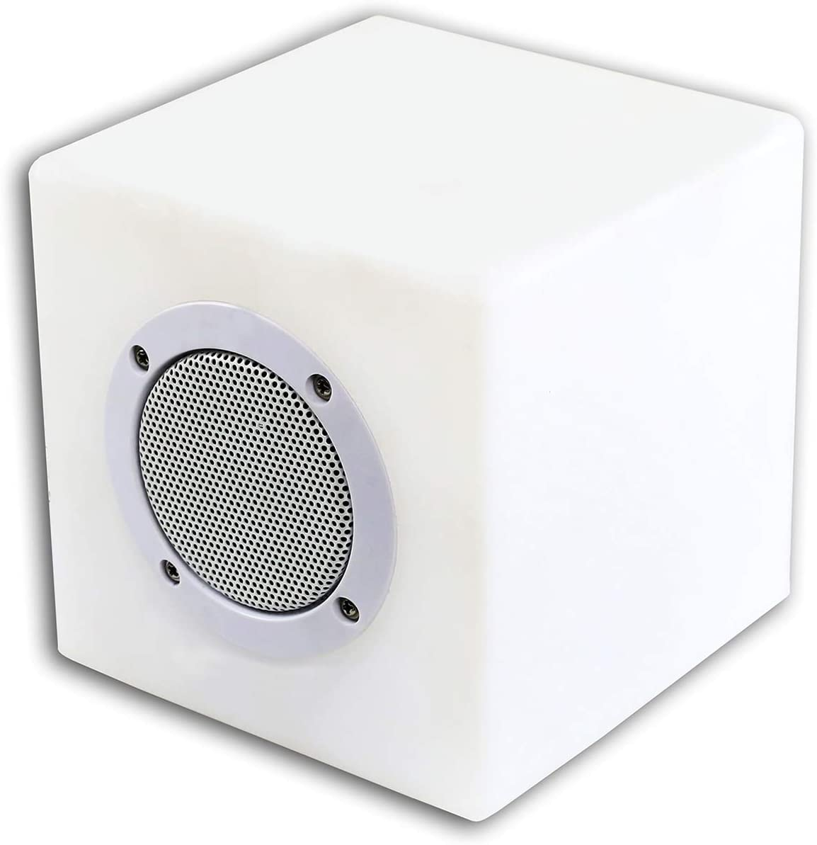 """Alpine Corporation Master Bluetooth Speaker with LED Light and Remote - Plastic Color Changing Speaker for Indoor/Outdoor Use- 6"""" x 6"""" x 6"""""""