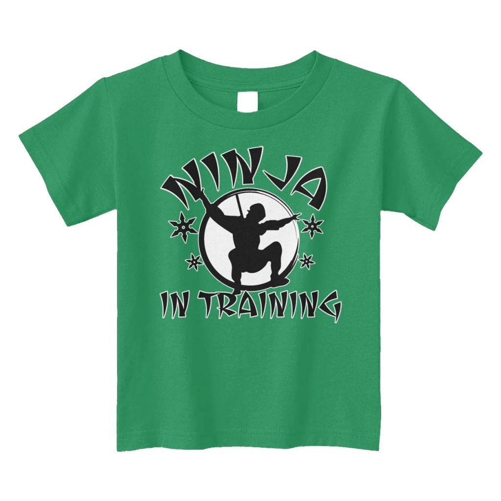 Threadrock Little Boys Ninja in Training Toddler T-Shirt