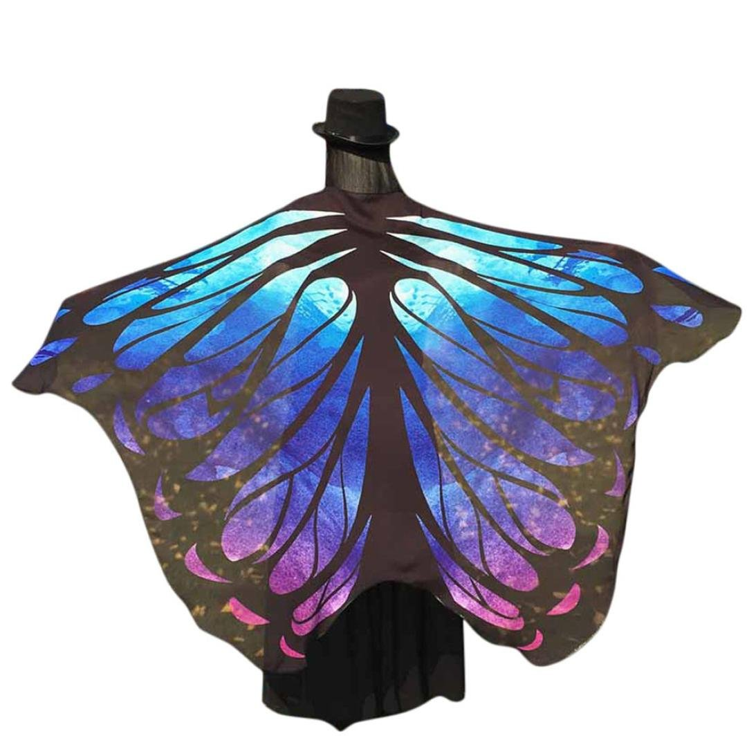 Perman Halloween/Christmas Ideas Costumes For Women Butterfly Wings Cover  Fairy Cosplay , 197x125CM