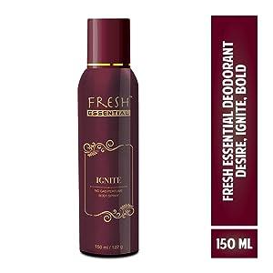 Fresh Essential No Gas Deodorant - Ignite, 150 ml