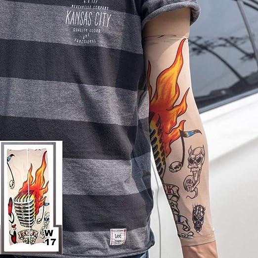 tzxdbh 3pc Color de Manga de Tatuaje de 40 cm Estiramiento Medias ...