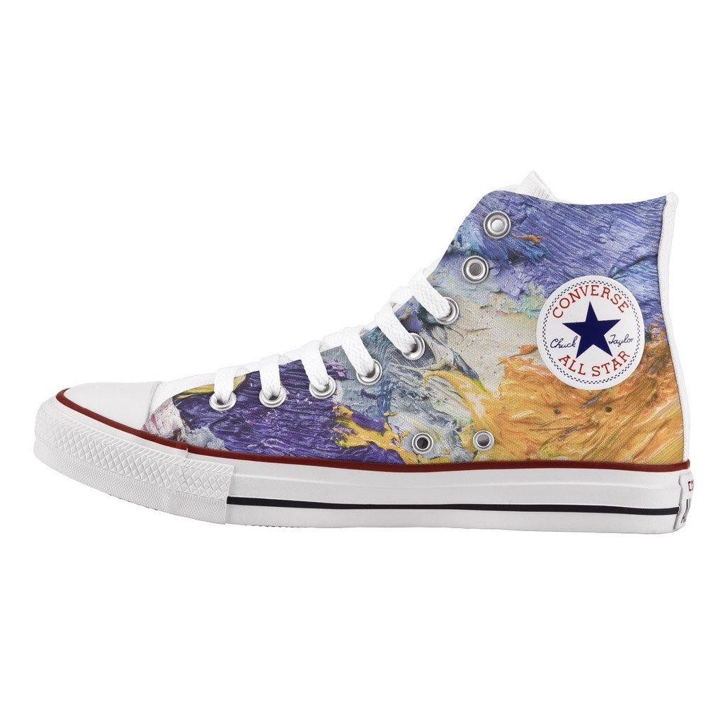 Converse Personalizzate All All All Star Alta - scarpe artigianali - stampa Sun and sea 876b5d