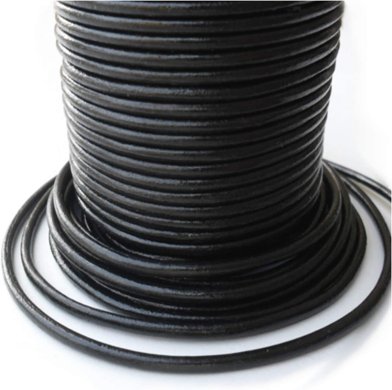 Lederband 1,5mm schwarz Rindsleder 1m    0012