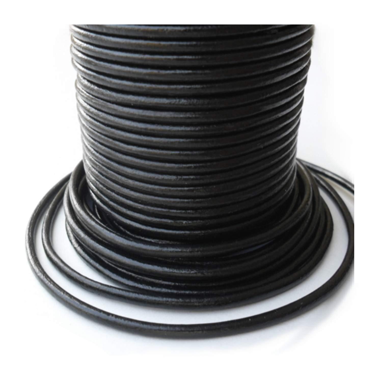 Auroris–10M Corda di Pelle, Ø 5mm, colore: nero 4250995603236