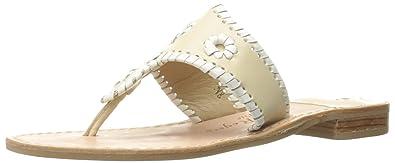 94cea1b34f26 Jack Rogers Women s Palm Beach Narrow Dress Sandal Bone White 5.5 ...
