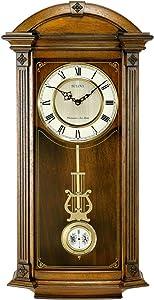 Bulova C4331 Hartwick Chiming Clock, Walnut