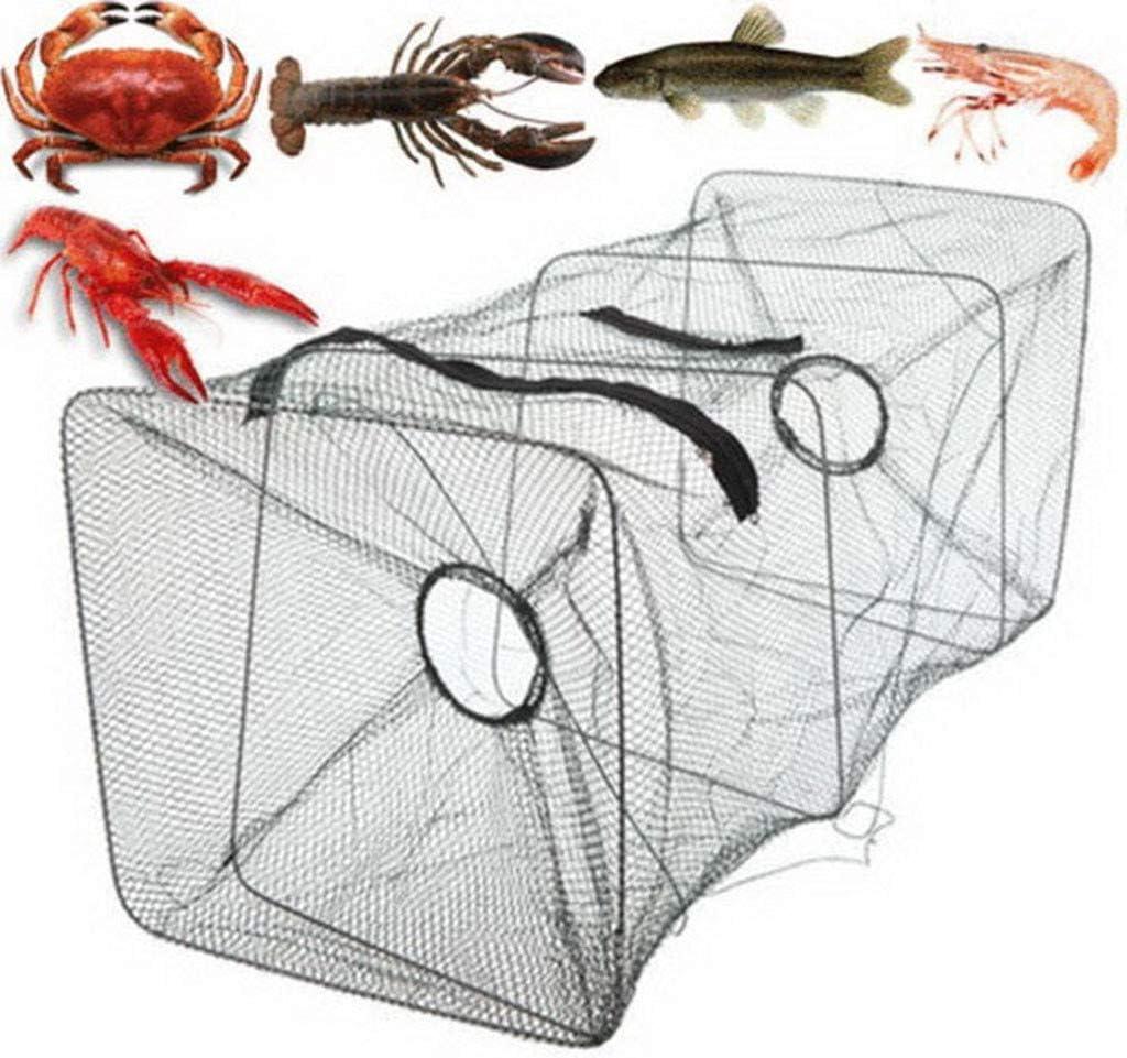 Ghopy Rete da Pesca Pieghevole Automatica Portatile per Catturare Gamberetti Pesciolini Granchi Granchio Gamberi Rezzaglio da Pesca