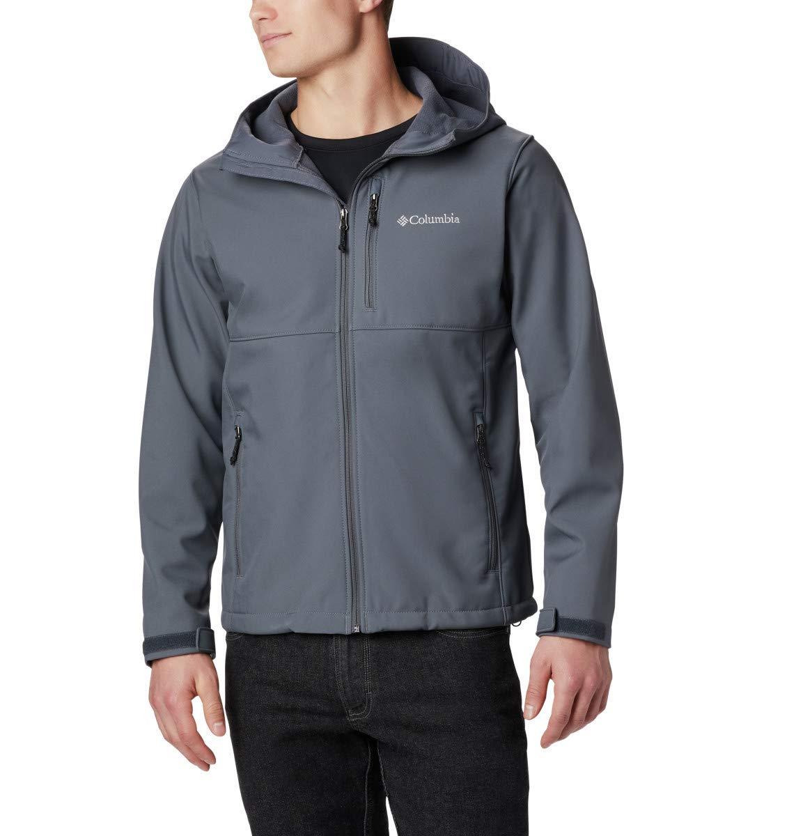 Columbia Men's Ascender Hooded Softshell Jacket, Graphite, Large