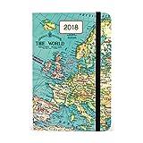 Cavallini AG2018/VINMAP Vintage Map Weekly Planner 2018