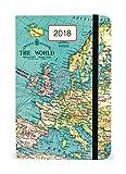 Cavallini Papers & Co., Inc. AG2018/VINMAP Vintage Map Weekly Planner Cavallini 2018 Vintage Map Weekly Planner