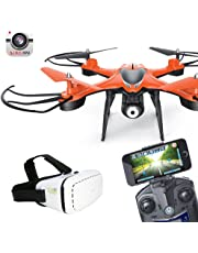 2.4Ghz 4CH RC 6-Axis HD WiFi Camera FPV Live Transmission Drone with VR Glasses (Orange)