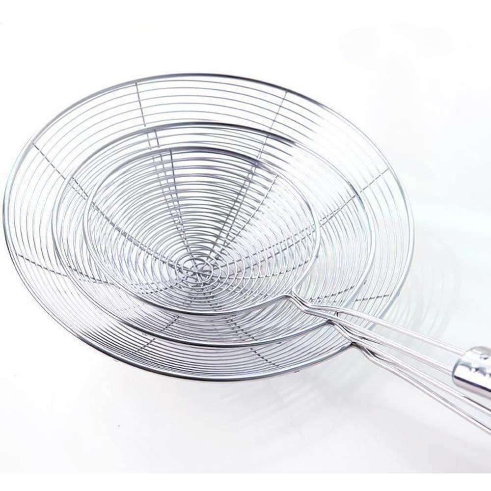 Ogquaton Filtro in acciaio inox Spider Skimmer Solido resistente al calore Manico lungo Filtro da cucina Frittura Skimmer per alimenti Mestolo Colino Pratico e popolare