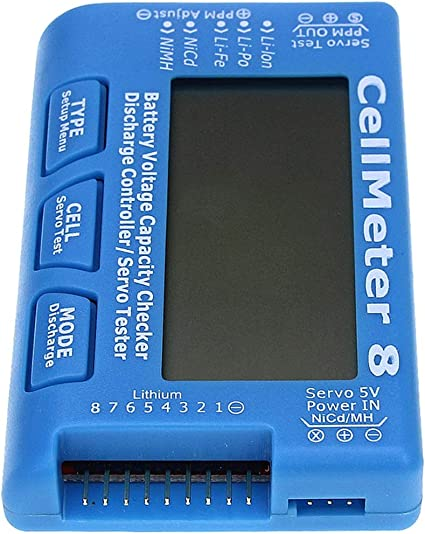 CellMeter 8 Battery Voltage Capacity Balance Servo Checker Tester With Backlight