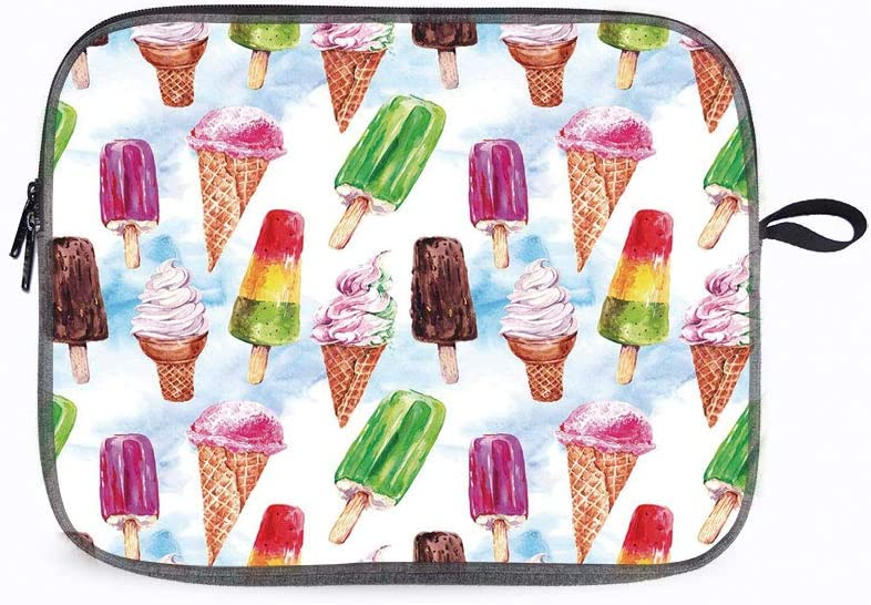 """Ice Cream Surreal Ice 14"""" Laptop Sleeve Bag Compatible with MacBook Pro,MacBook Air,Notebook Compute"""