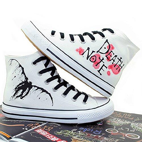 Death Note Cosplay Schoenen Canvas Schoenen Sneakers Wit