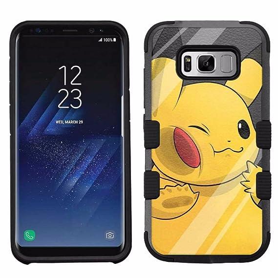 size 40 56e9f d4997 Amazon.com: for Samsung Galaxy S8, Hard+Rubber Dual Layer Hybrid ...
