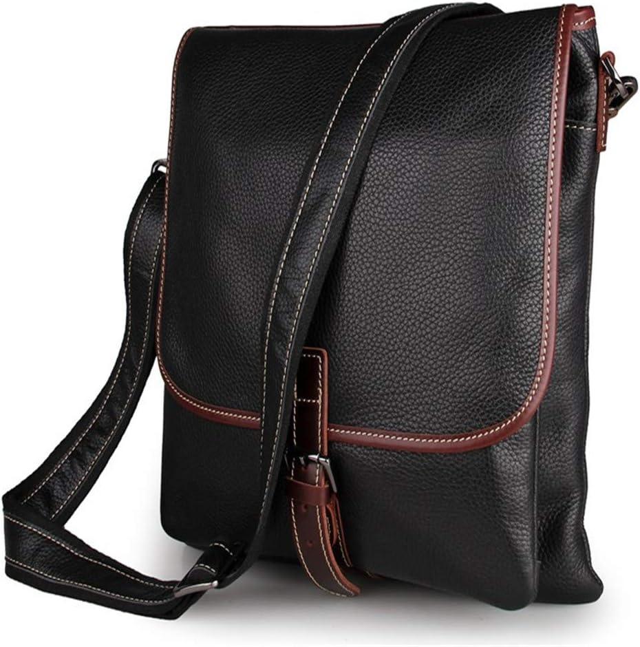 Techecho Men Portable Handbag Leather Messenger Satchel Crossbody Bag Man Business Briefcase Brown for 15.6 Laptop Tablet Shoulder Bag Large Capacity Leather Computer Bag