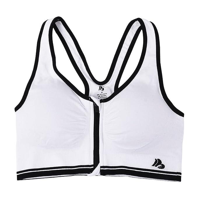 Houlife Sujetador deportivo - para mujer Weiß M: Amazon.es: Ropa y accesorios