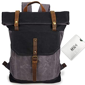 bc9e4b493938 Amazon.com: Nordic Outfitters Rolltop Backpack with Anti Rfid Card ...
