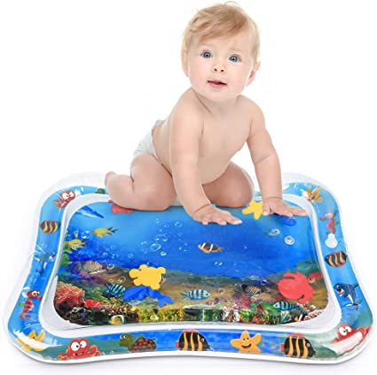 Water Play Mat for Infants Inflatable Toddlers Fun Tummy Time Play Activity Game