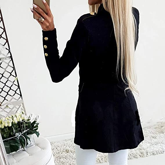 Amazon.com: Office Lady Winter Women Coat Female Jacket Pocket Jackets for Fashion Simple Daily Turn Down Abrigos Mujer invierno: Kitchen & Dining
