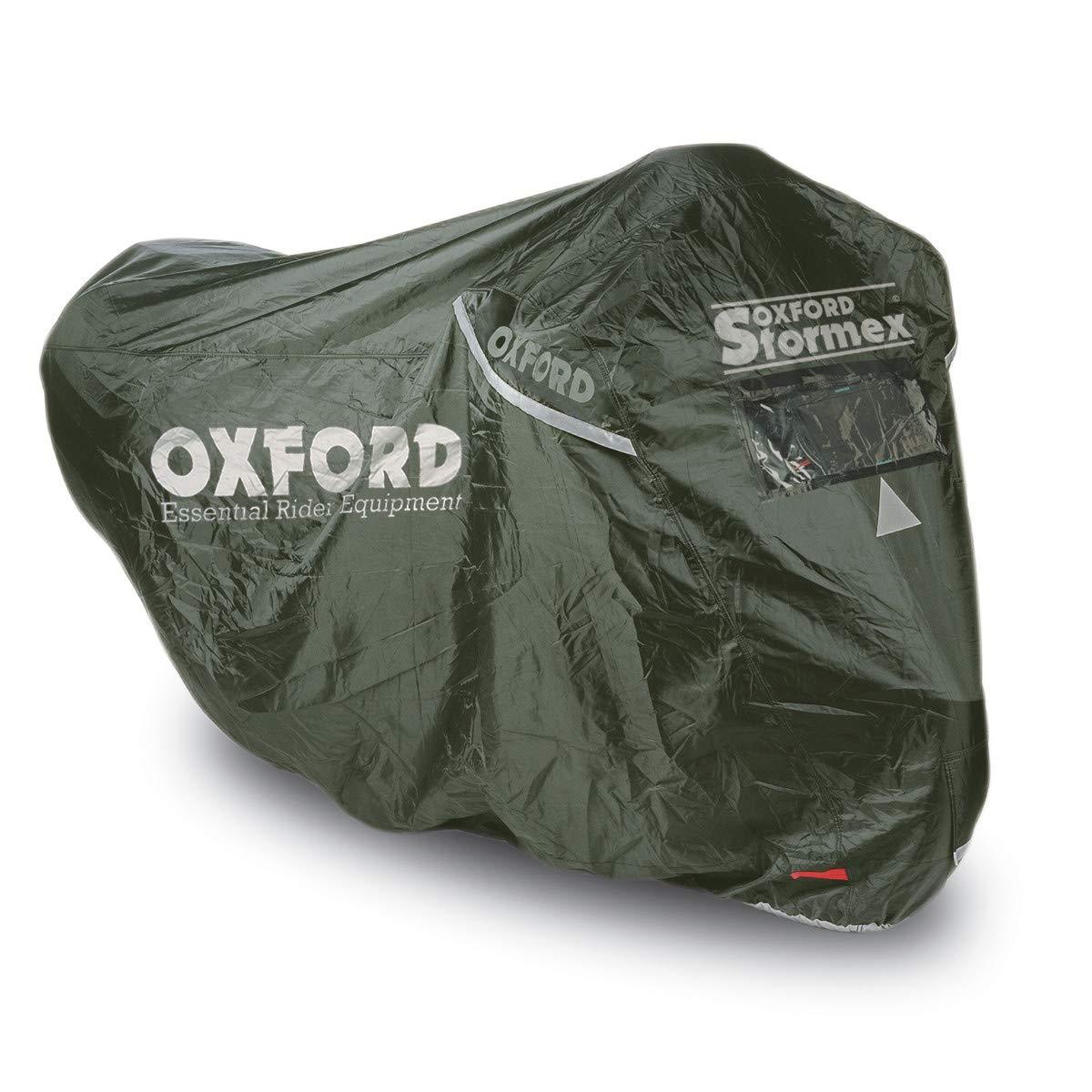 Funda Impermeable para Motocicleta Oxford Stormex Ideal para Exteriores 229 x 99 x 125 cm versi/ón 2016 Color Negro
