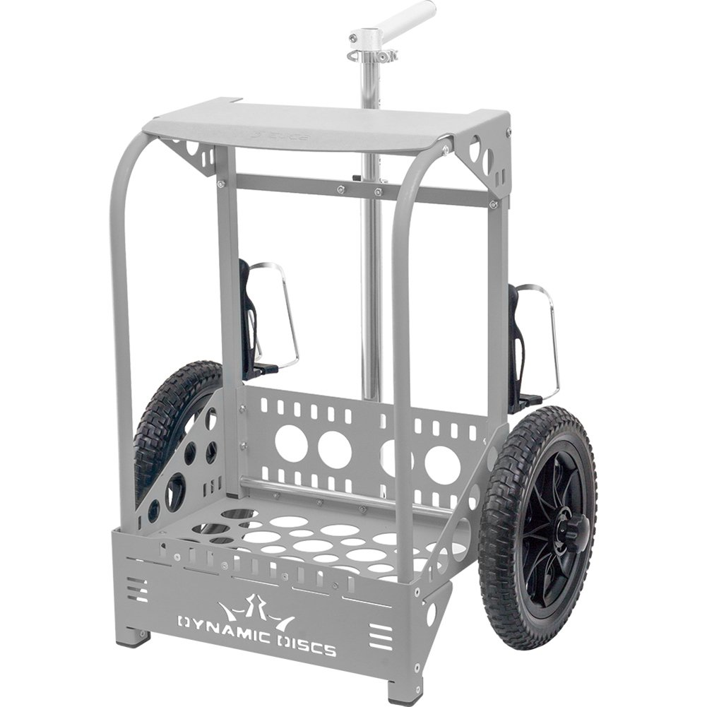 Dynamic Discs Backpack Cart LG by ZÜCA - Offers 50% Greater Capacity Than The Original Backpack Cart - Gray