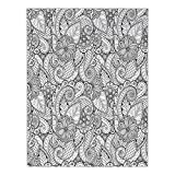 Polyester Rectangular Tablecloth,Doodle,Flowers and Paisley Coloring Book Style Drawing Ethnic Influences Abstract Artwork,Black White,Dining Room Kitchen Picnic Table Cloth Cover,for Outdoor Indoor
