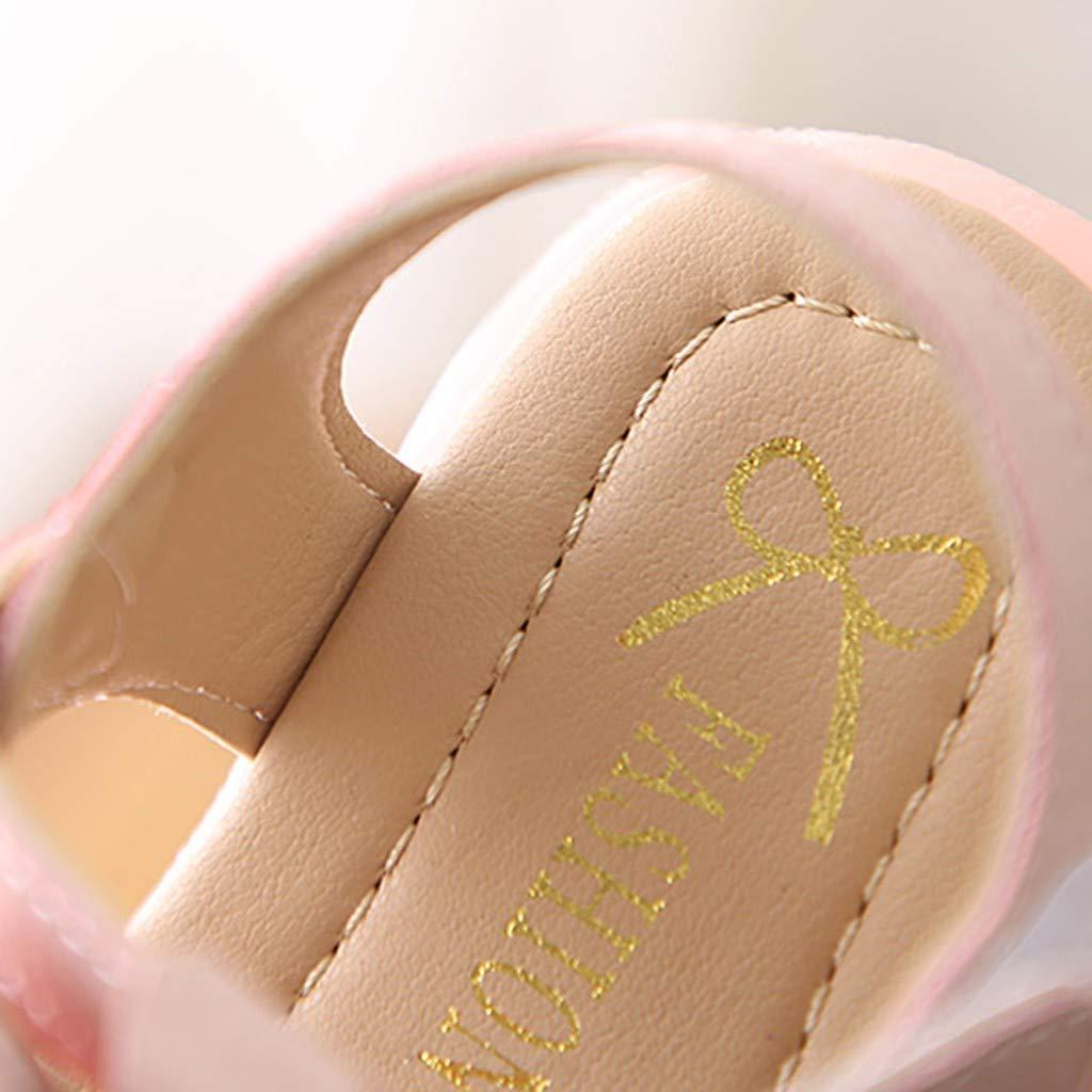 LEvifun Sandales Fille B/éb/é Princesse Mode Chaussure B/éb/é Fille Bapteme /Ét/é Pas Cher Chaussures B/éb/é Fille Premier Pas Sandales Bout Ouvert LED Lumineuses Bowknot B/éb/é Fille Naissance