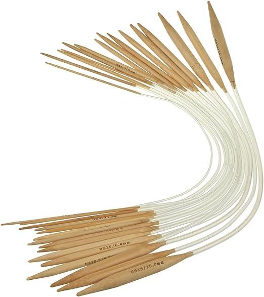 "HiyaHiya 2.5mm x 40cm Bamboo Circular Knitting Needles 16/"""