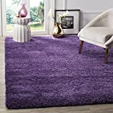 Safavieh Milan Shag Collection SG180-7373 Purple Square Area Rug (7' Square)