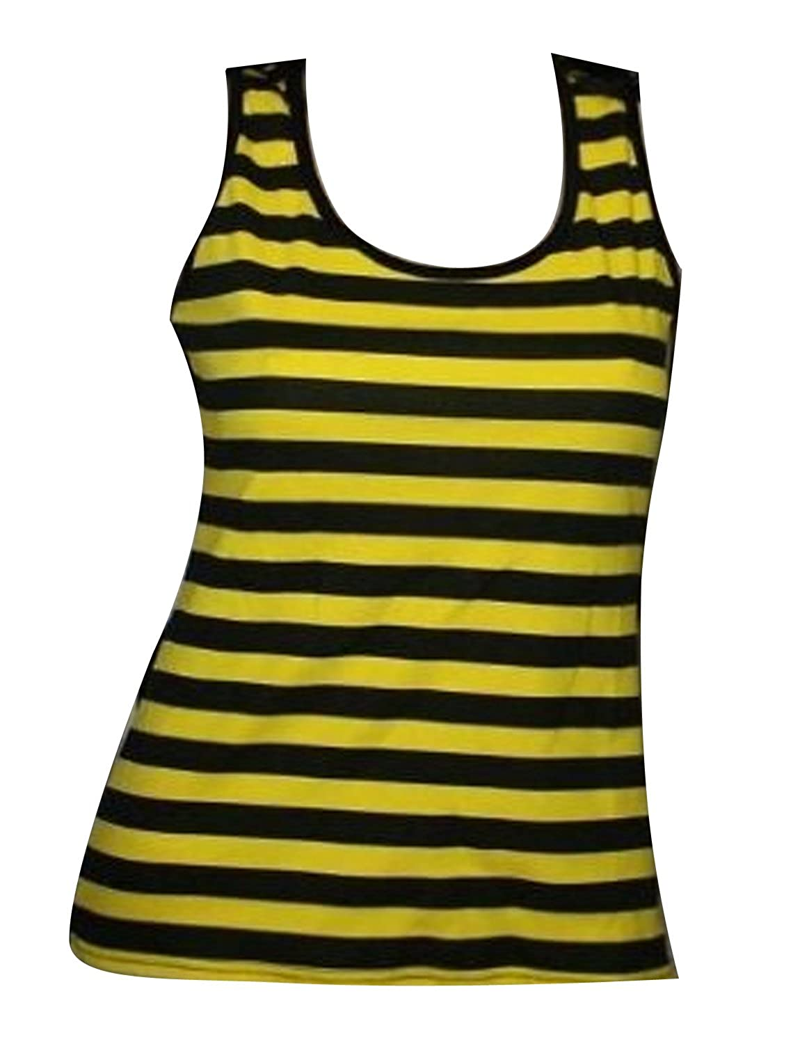 Bumble Bee Yellow And Black Stripes Tank Top Vest