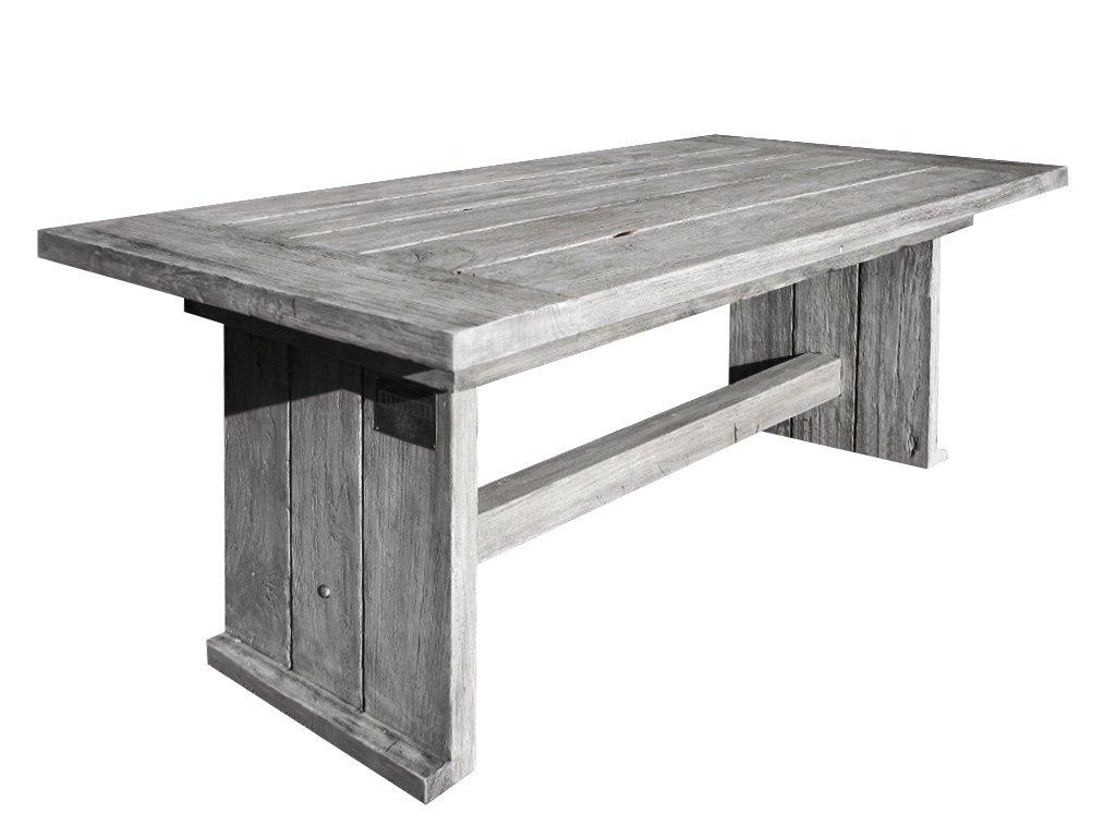 Gartenstühle holz grau  Amazon.de: Strandgut07 Teakholz Tisch Esstisch recycelt finish, grau ...