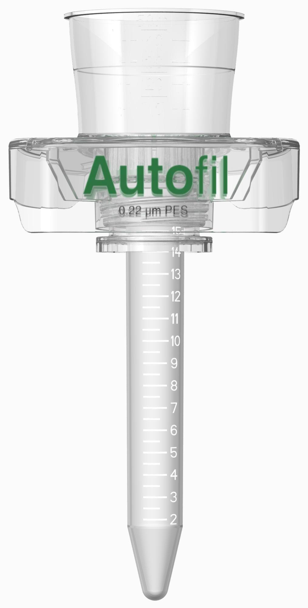 Autofil Sterile Disposable Centrifuge Tube Vacuum Filter Units with 0.45um PES Membrane for Prefiltration or Clarification, 50mL, 24/CS by Foxx Life Sciences