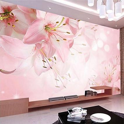 Colomac Wall Mural Modern Art Romantic Simple Lily Flower Mural