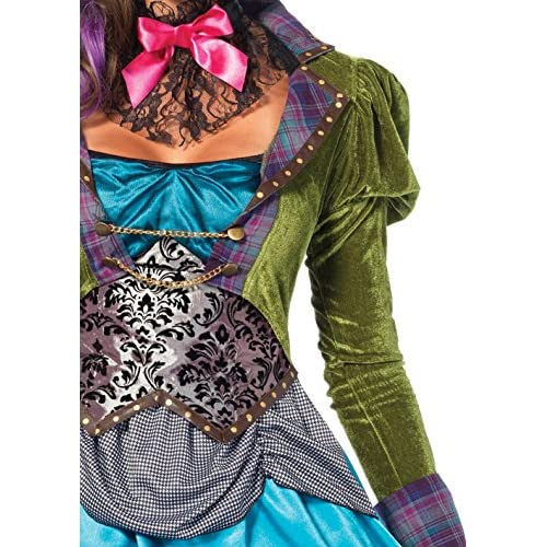 Leg Avenue Women's 3  Piece Deluxe Mad Hatter Costume