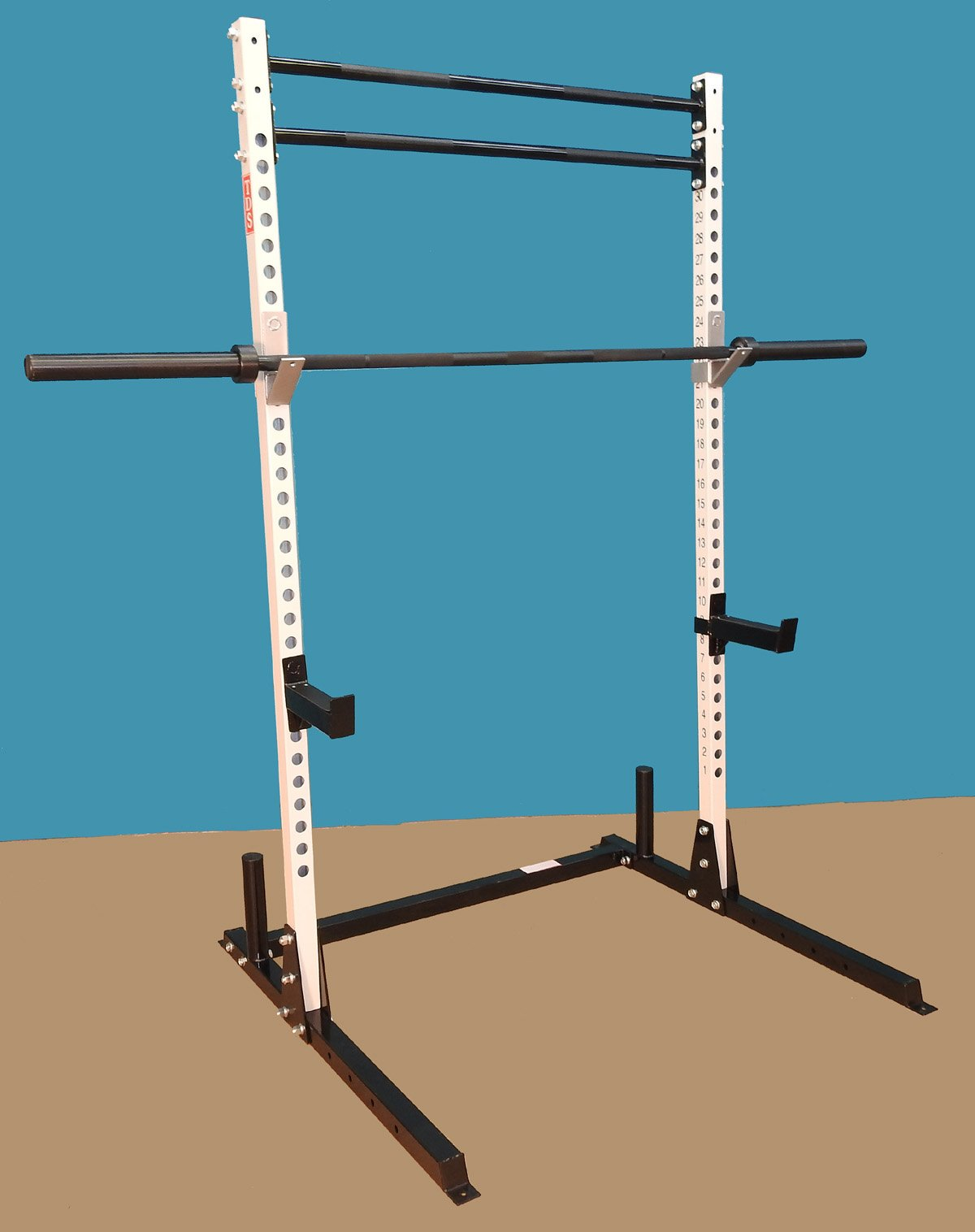 TDS Mega Open Rack / Squat Stand Gym with (2) Chin Up Bars by TDS