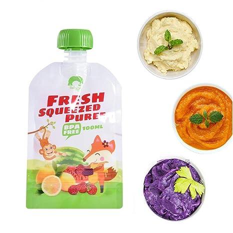 wonderday 8pcs Bolsas de comida para bébés reutilizables ...