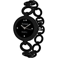 Howdy Analogue Black Dial Women's Watch (Black) 318